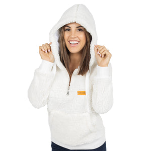 Simply Southern Sherpa Hoodie Cream