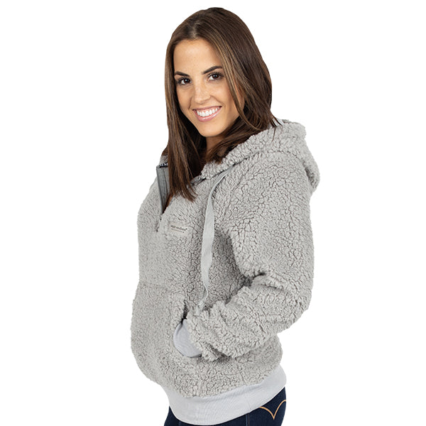 Simply Southern Sherpa Hoodie Heather Grey