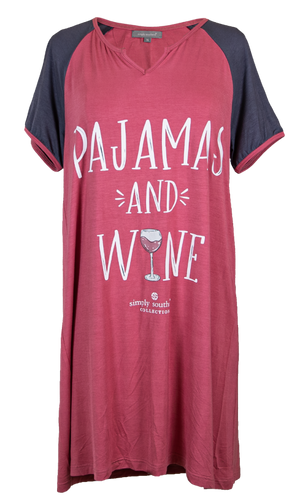 Simply Southern Night Gown-Wine