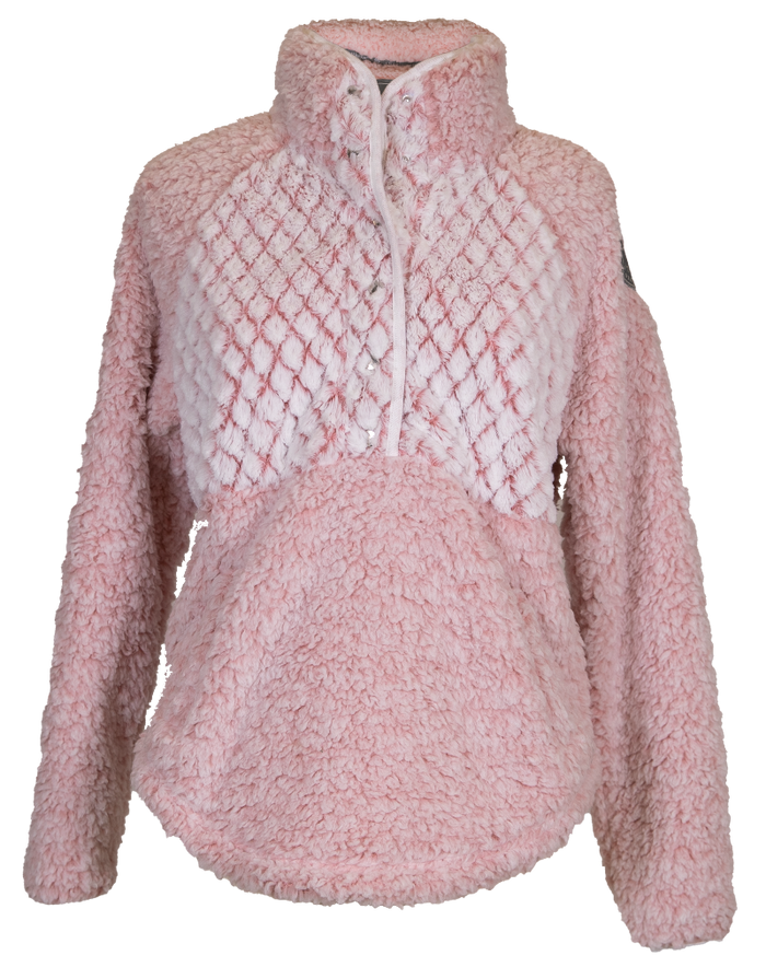 Simply Southern Piped Sherpa-Pink