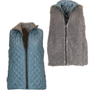 Simply Southern Reversible Vest-Teal