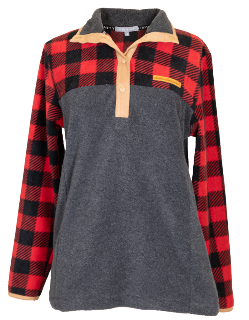 Simply Southern Simply Fleece-Plaid