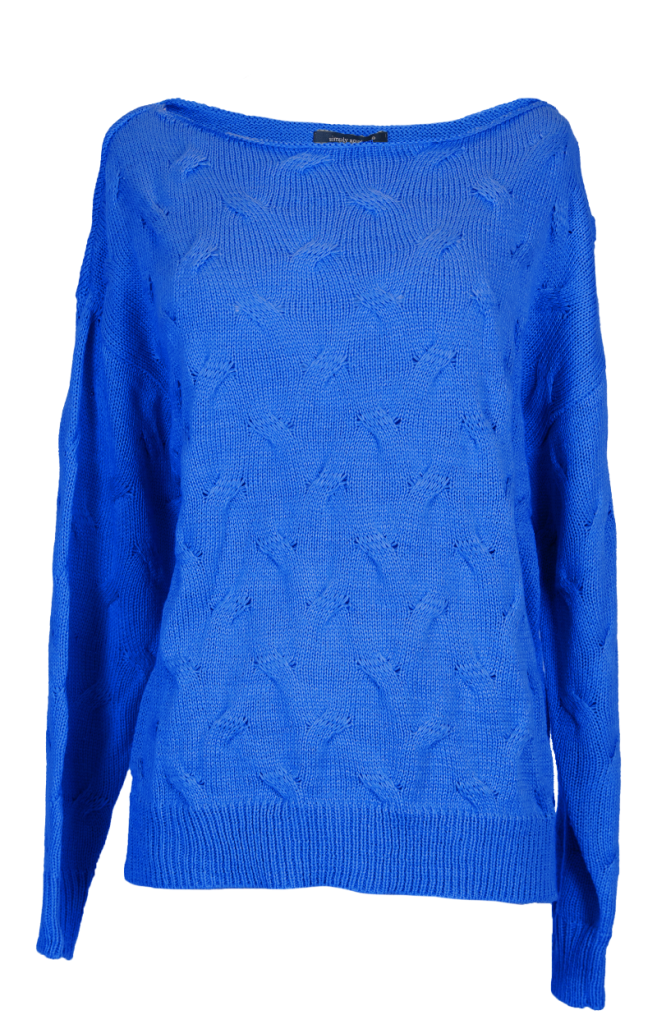 Simply Southern Weaved Sweater-Blue