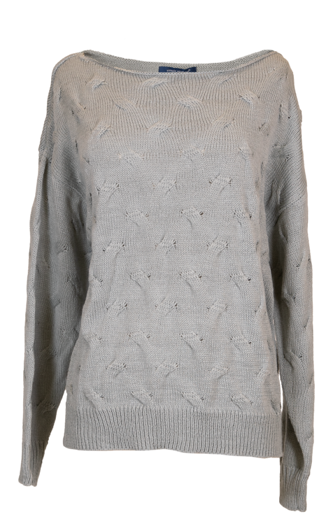 Simply Southern Weaved Sweater-Gray