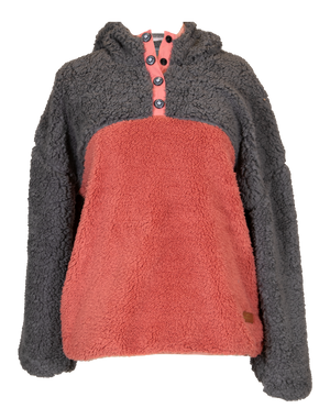 Simply Southern Two-Toned Sherpa-Grey/Pink