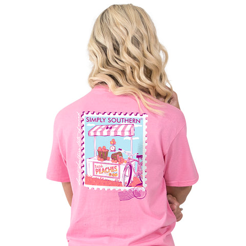 Simply Southern Preppy Peaches short sleeve T-shirt