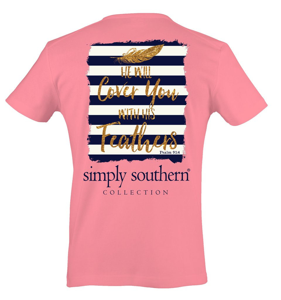 Simply Southern Feathers T-shirt
