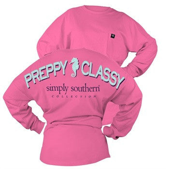 Simply Southern Preppy Classy Seahorse Spirit Jersey