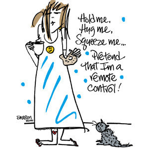 Hold me, Hug me, Squeeze me...Pretend that I'm a remote control! nightshirt