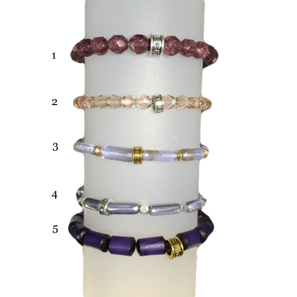 Partners In Health Purple chavez for charity bracelet