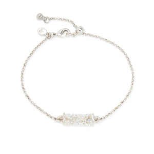 Druzy Tube Slider Bracelet in Moonlight - Luca + Danni