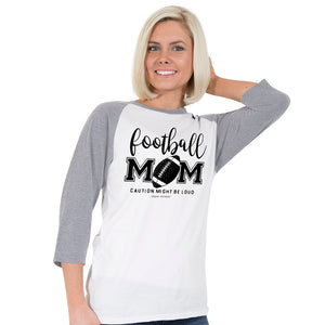 Simply Faithful Football Mom Baseball T-Shirt