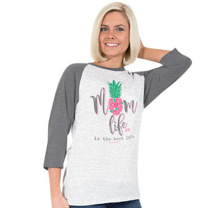 SImply Faithful Mom Life baseball t shirt