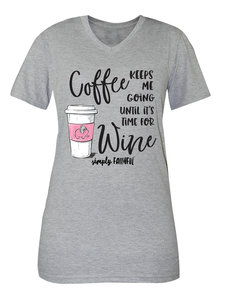 Simply Southern Coffee Keeps Me Going Short Sleeve T-Shirt