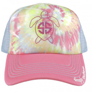 Simply Southern Distressed Tie-Dye Turtle Hat