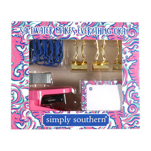 Simply Southern Seahorse Stationary Set