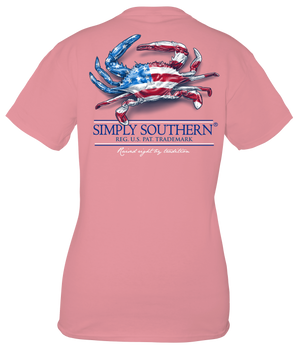 Simply Southern Raised Right Crab Tee