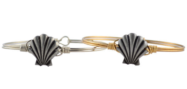 Seaside Bangle, Shell - Luca + Danni