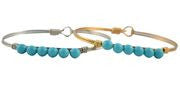 Pearls Bangle, Turquoise Pearl - Luca + Danni