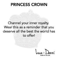 Princess Crown Bangle Luca + Danni meaning card