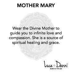 Mother Mary Bangle Luca + Danni meaning card