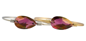 Lilac Shadow Teardrop Bangle Luca + Danni