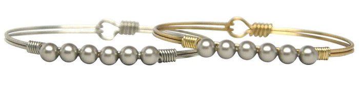 Pearls Bangle, Platinum Pearl - Luca + Danni