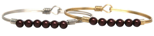 Pearls Bangle, Merlot Pearl - Luca + Danni