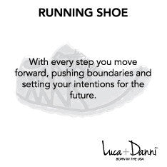 Running Shoe Bangle Luca + Danni meaning card