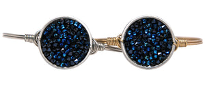 Metallic Blue Druzy Bangle Luca + Danni