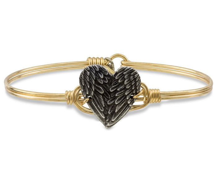 Love Bangle, Angel Wing Heart - Luca + Danni