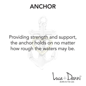 Anchor with Heart Bangle Luca + Danni meaning card