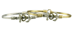 Anchor with Heart Bangle Luca + Danni