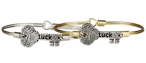 luck key bangle Luca + Danni