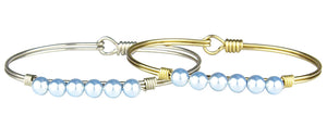Baby Blue Pearl Bangle Luca + Danni