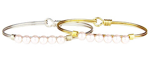 Baby Pink Pearl Bangle Luca + Danni