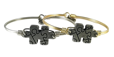 Autism Awareness Bangle Luca + Danni