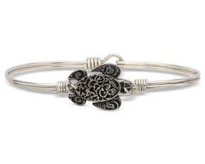Sea Turtle Silver Bangle Luca + Danni