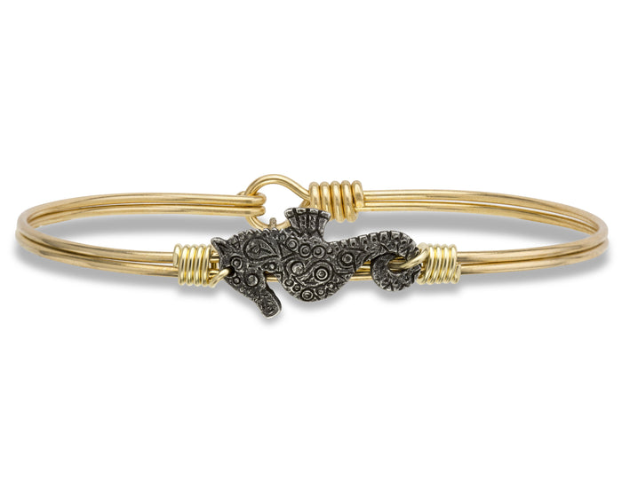 Seaside Bangle, Sea Horse - Luca + Danni