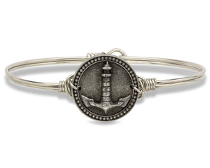 Lighthouse silver Bangle Luca + Danni