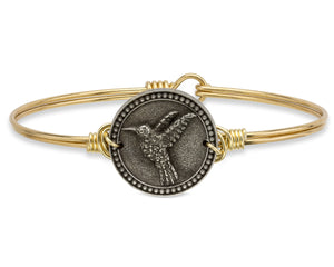 Brass Hummingbird Bangle Luca + Danni