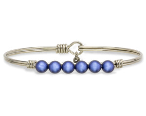 Lapis Blue Pearl Bangle Luca + Danni