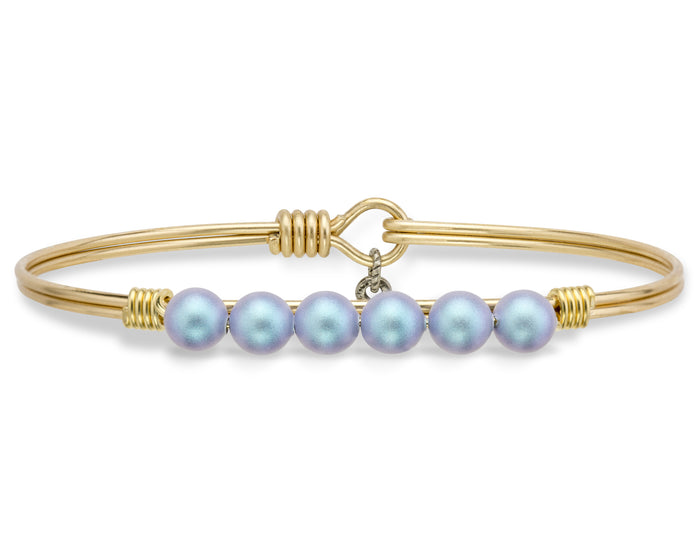 Pearls Bangle, Aqua Pearl - Luca + Danni
