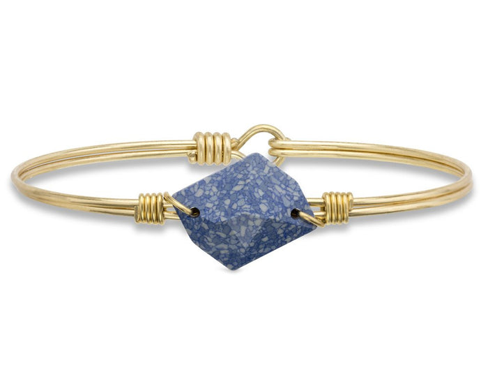 Brooklyn Bangle, Marbled Blue - Luca + Danni