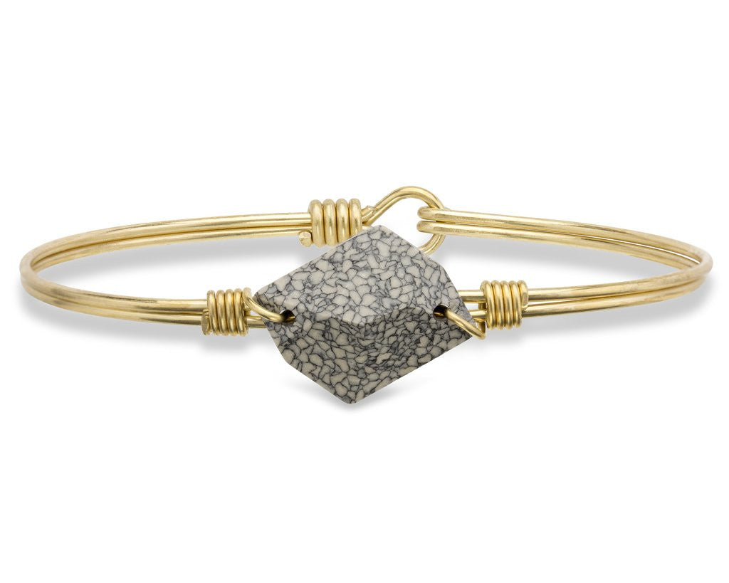 Marbled Ivory Brooklyn Bangle Luca + Danni