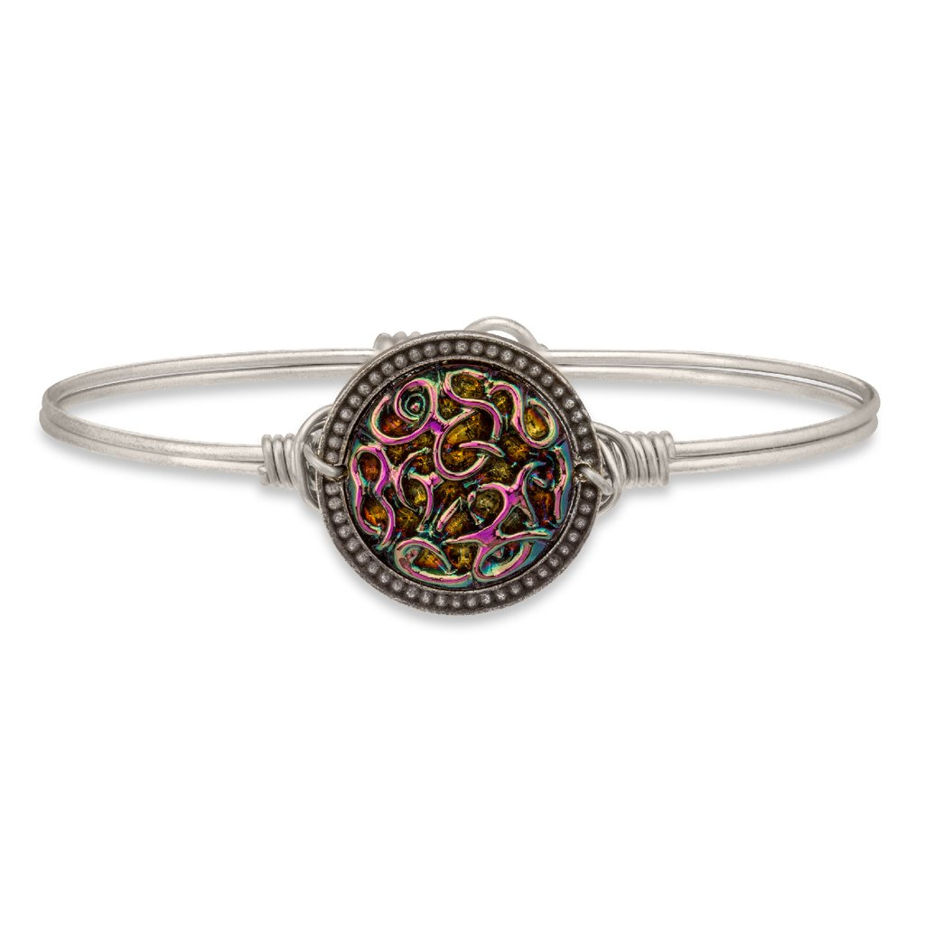 Endless Knot Bangle Bracelet in Rainbow - Luca + Danni