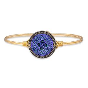 Mandala Bangle Bracelet in Glacier Blue - Luca + Danni