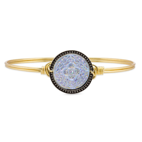 Mandala Bangle Bracelet in Crystal AB - Luca + Danni