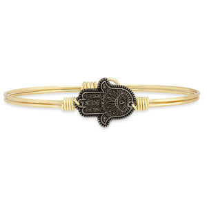 Hamsa Hand Bangle - Luca + Danni