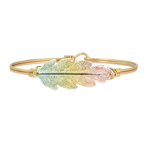 Lucky Feather Bangle, Rainbow - Luca + Danni